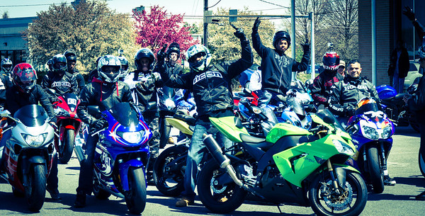 SportBikes Inc Shut the City Down Ride 2013